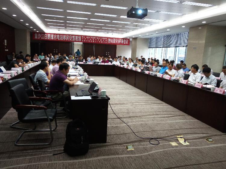 咨询公司组织召开白鹤滩水电站四川部分移民安置规划防护工程,电力